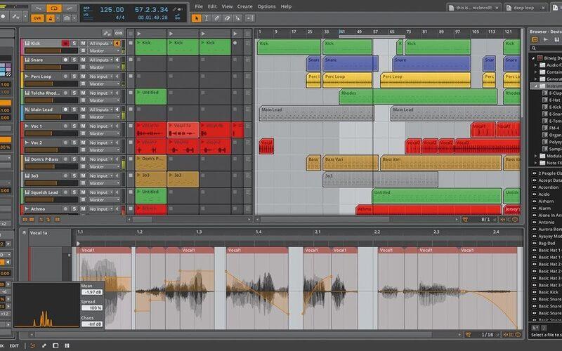 Скриншот 1 программы Bitwig Studio