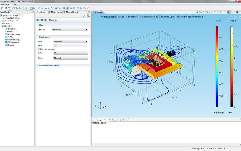 Скриншот 1 программы COMSOL Multiphysics