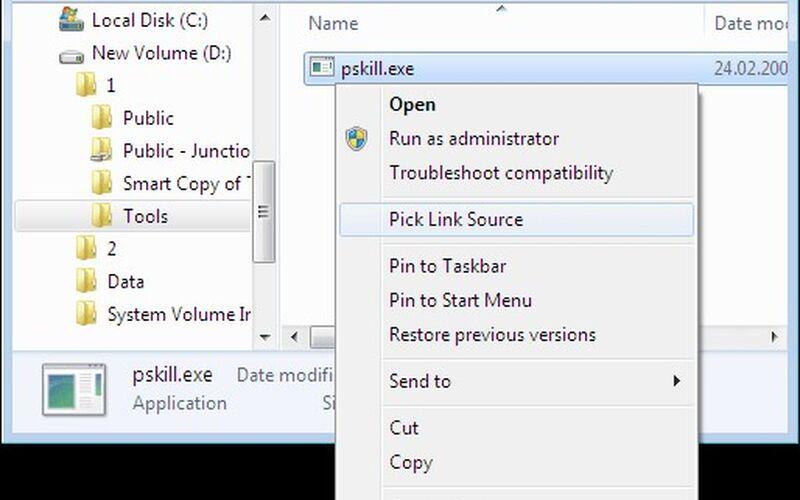 Скриншот 1 программы Link Shell Extension