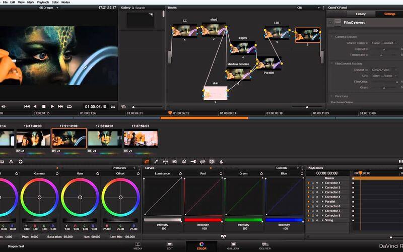 Скриншот 1 программы DaVinci Resolve