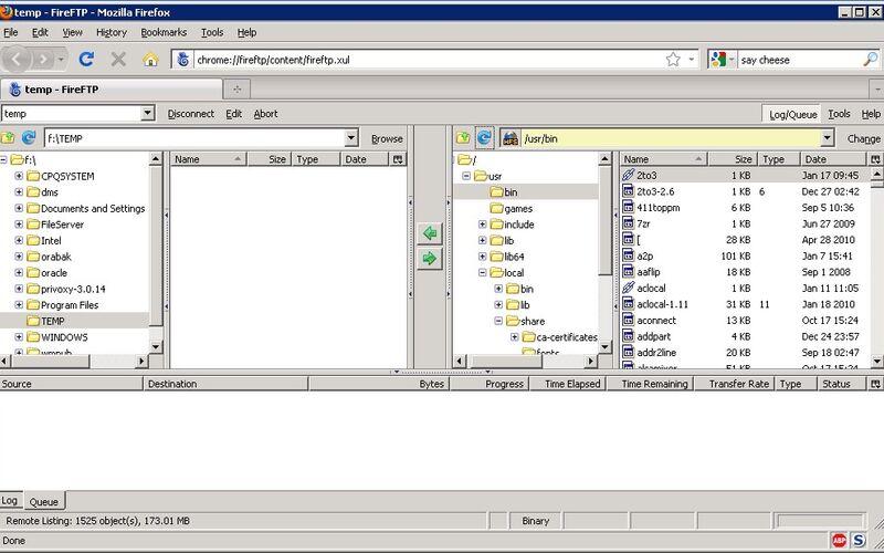 Скриншот 1 программы FireFTP