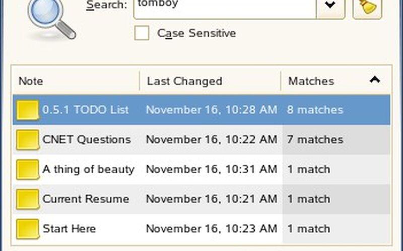 Скриншот 1 программы Tomboy