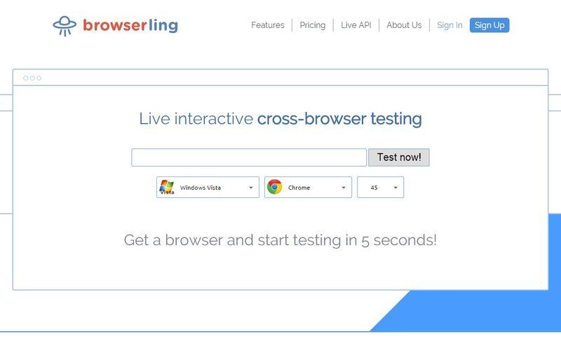 Скриншот 1 программы browserling