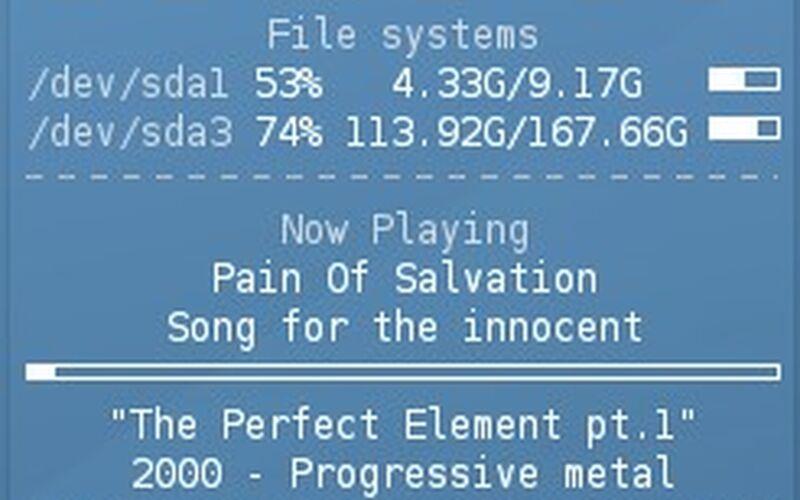 Скриншот 1 программы Conky