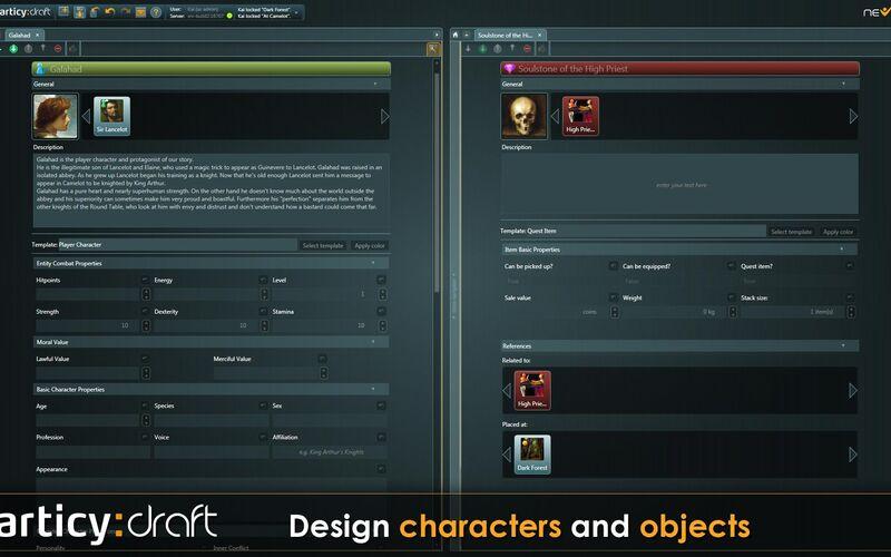 Скриншот 1 программы articy:draft