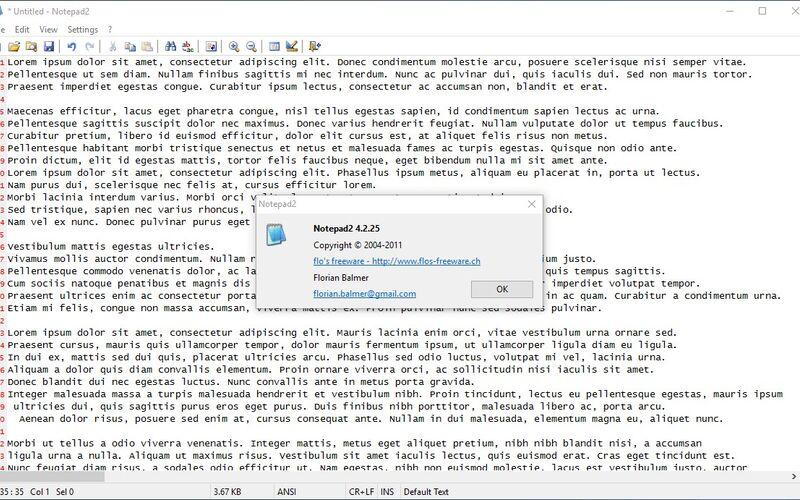 Скриншот 1 программы Notepad2