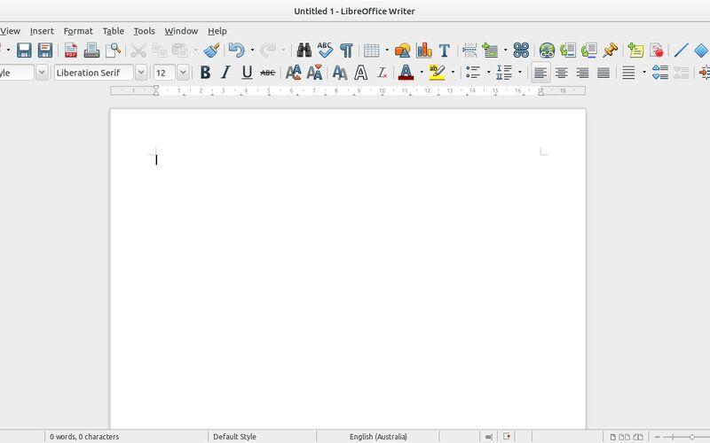 Скриншот 1 программы LibreOffice - Writer