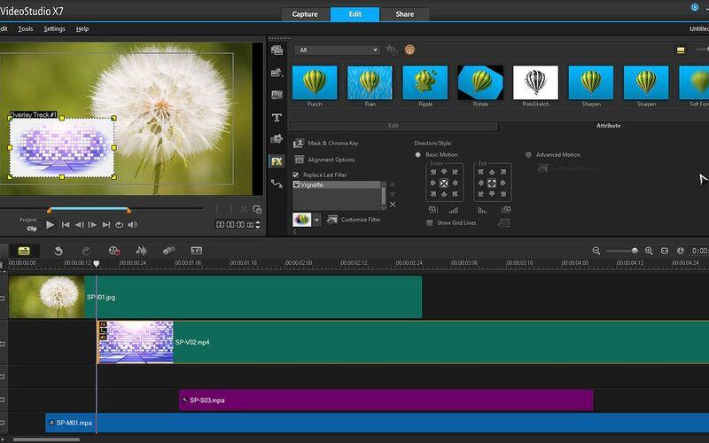 Скриншот 1 программы Corel VideoStudio