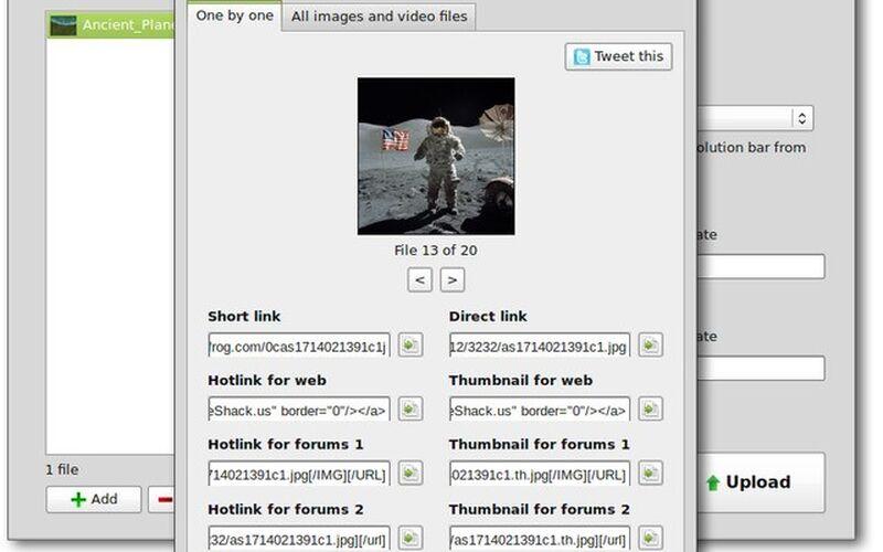 Скриншот 1 программы ImageShack