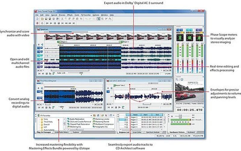 Скриншот 1 программы Sound Forge