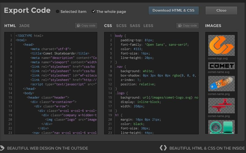 Скриншот 1 программы Webflow