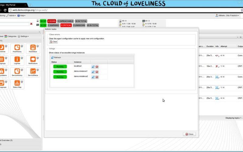 Скриншот 1 программы Icinga