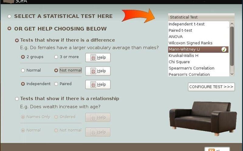 Скриншот 1 программы SOFA Statistics