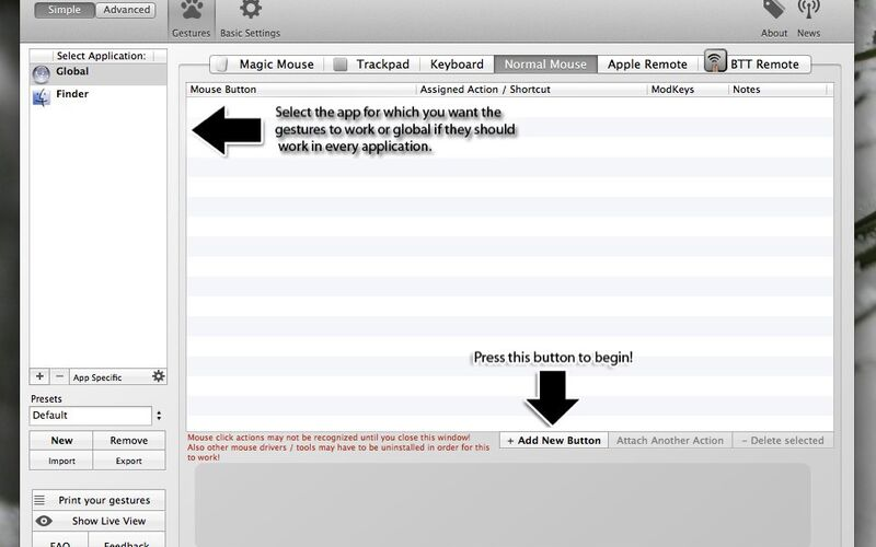 Скриншот 1 программы BetterTouchTool