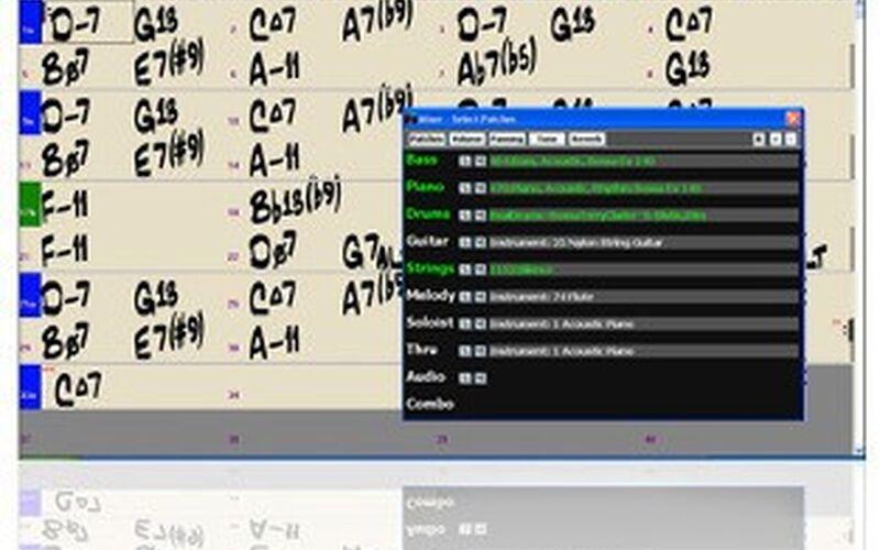 Скриншот 1 программы Band-in-a-Box