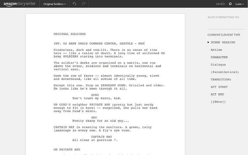Скриншот 1 программы Amazon Storywriter