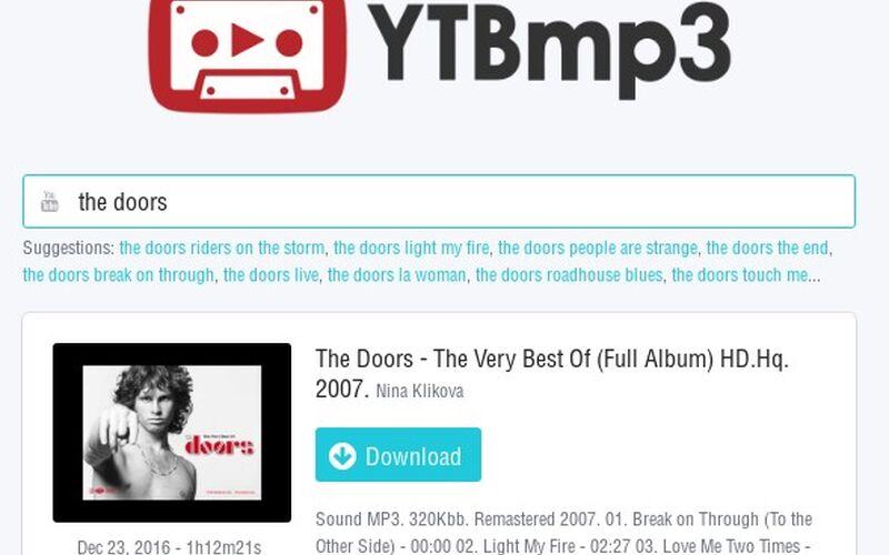 Скриншот 1 программы YouTube to MP3 Converter - YTBmp3