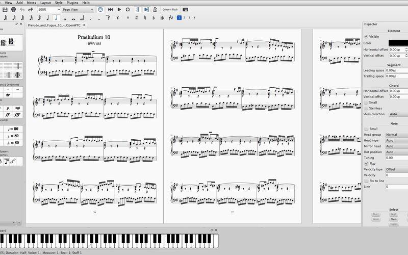 Скриншот 1 программы MuseScore