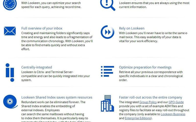 Скриншот 1 программы Lookeen Desktop Search