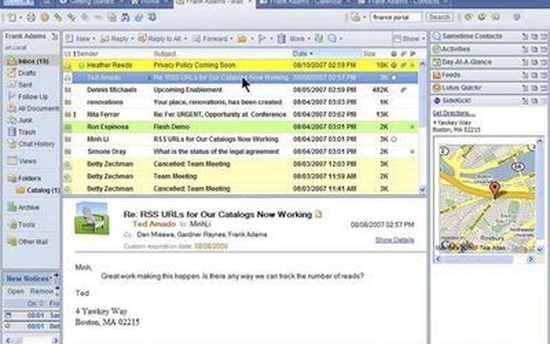 Скриншот 1 программы IBM Notes