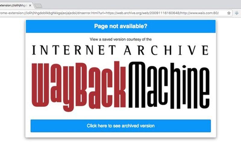 Скриншот 1 программы Wayback Machine