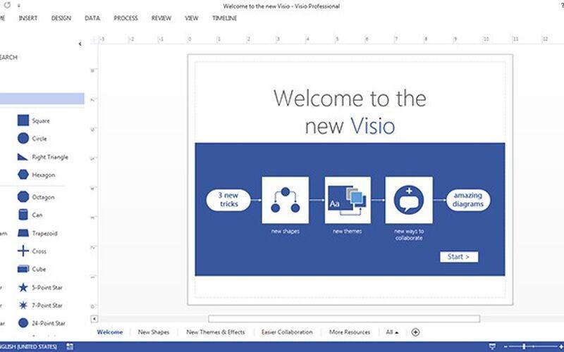 Скриншот 1 программы Microsoft Office Visio
