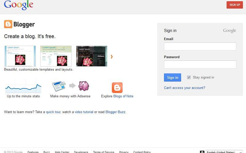 Скриншот 1 программы Blogger