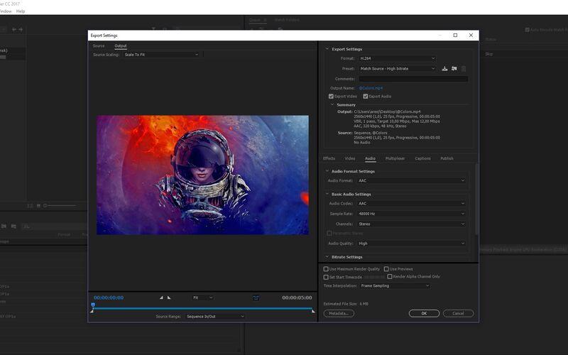 Скриншот 1 программы Adobe Media Encoder CC