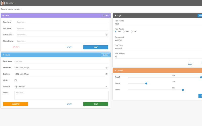 Скриншот 1 программы Webix UI