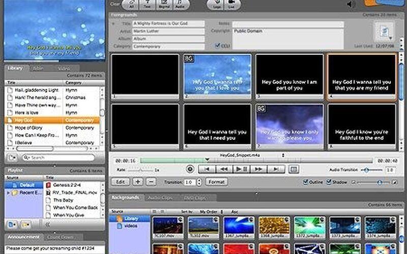 Скриншот 1 программы ProPresenter