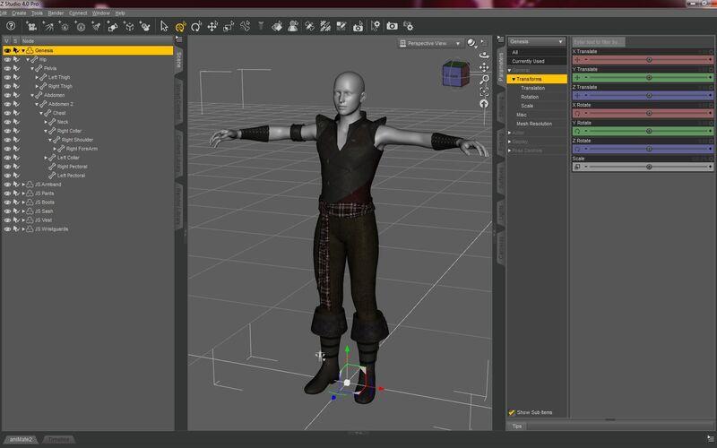 Скриншот 1 программы DAZ 3D