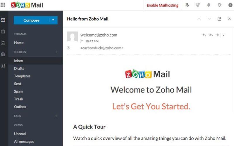 Скриншот 1 программы Zoho Mail