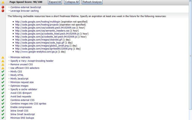 Скриншот 1 программы PageSpeed Insights
