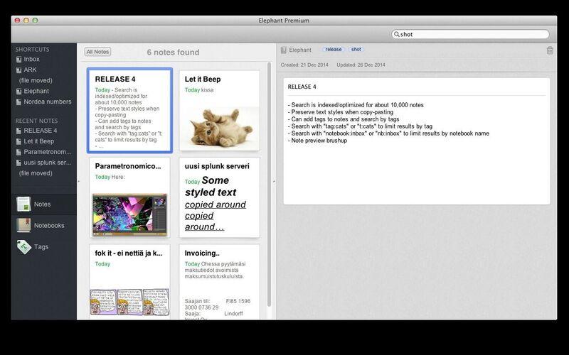 Скриншот 1 программы Elephant