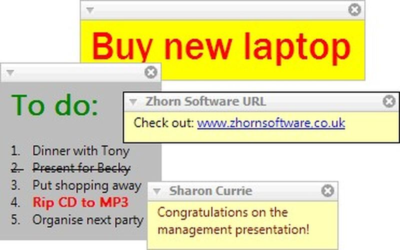 Скриншот 1 программы Stickies