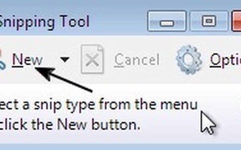 Скриншот 1 программы Snipping Tool