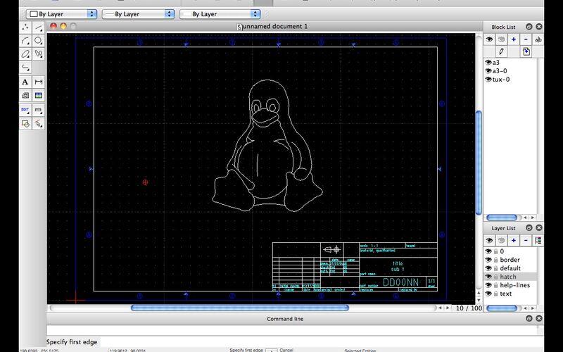 Скриншот 1 программы LibreCAD