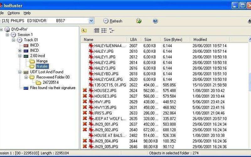 Скриншот 1 программы Isobuster