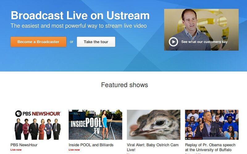 Скриншот 1 программы Ustream
