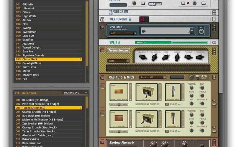 Скриншот 1 программы Guitar Rig