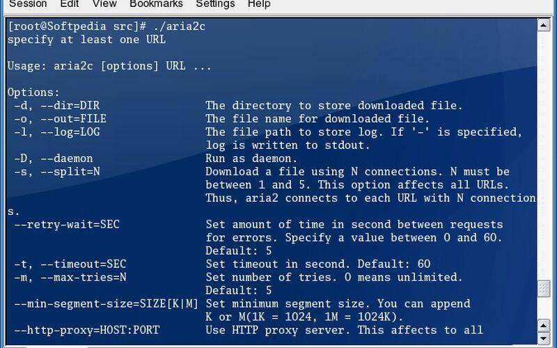 Скриншот 1 программы aria2