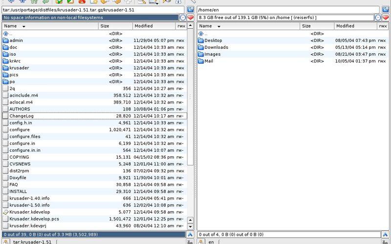 Скриншот 1 программы Krusader