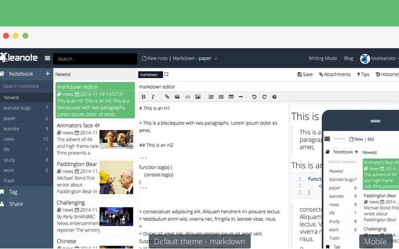 Скриншот 1 программы Leanote