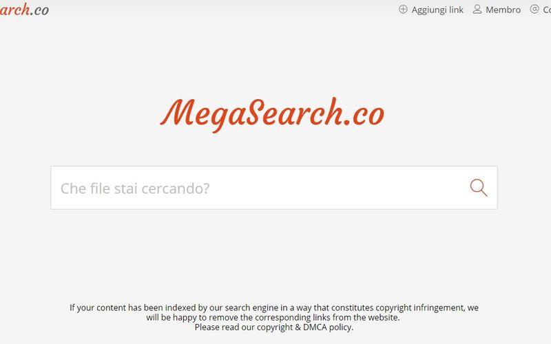 Скриншот 1 программы MegaSearch.co