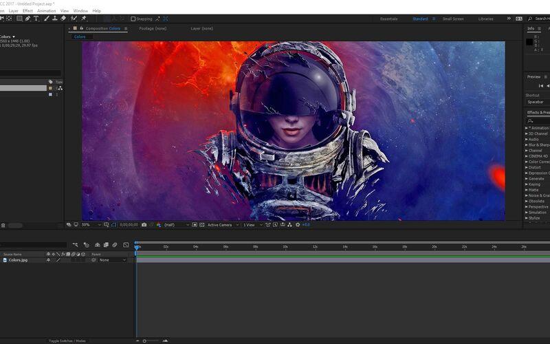 Скриншот 1 программы Adobe After Effects