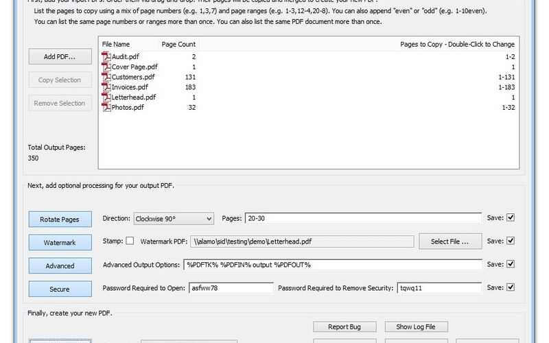 Скриншот 1 программы PDFtk