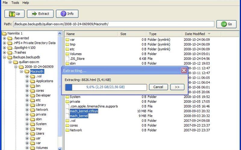 Скриншот 1 программы HFSExplorer