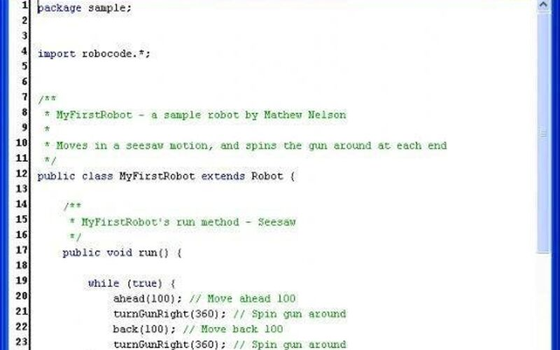 Скриншот 1 программы Robocode