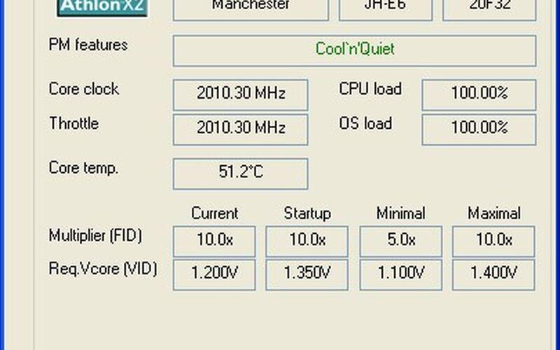Скриншот 1 программы RMClock