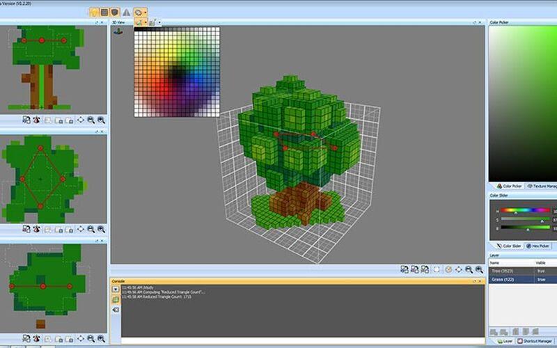 Скриншот 1 программы VoxelShop